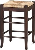 Boraam Solid Hardwood Rush Stationary Bar Stools