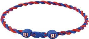 Eagles Wings NCAA Kansas Titanium Twist Necklaces