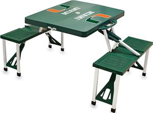 Picnic Time University of Miami Picnic Table