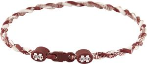 Eagles Wings NCAA Mississippi State Twist Necklace