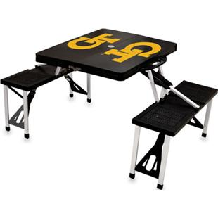 Picnic Time Georgia Tech Folding Picnic Table