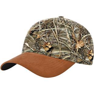 Richardson Duck Cloth Visor & Button Camo Caps