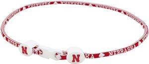 Eagles Wings NCAA Nebraska Titanium Sport Necklace