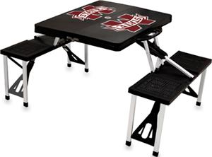 Picnic Time Mississippi State Folding Picnic Table