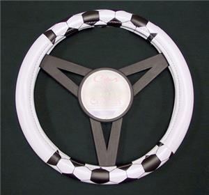 Soccer Ball Steering Wheel Cover