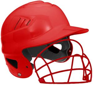 Coolflo Softball Helmet w/Attached Faceguard