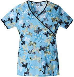Cherokee Studio PR Women's Mock Wrap Scrub Tops