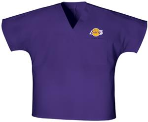 Cherokee Los Angeles Lakers V-Neck Scrub Tops