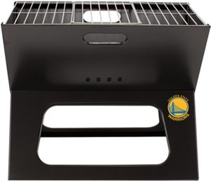Picnic Time NBA Warriors Charcoal X-Grill w/ Tote