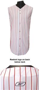 Reebok Sleeveless Button Baseball Jersey-Closeout