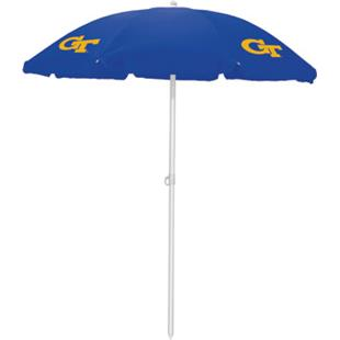 Picnic Time Georgia Tech Sun Umbrella 5.5