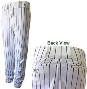 Reebok Poly Warp Pinstripe Baseball Pants-Closeout
