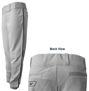 Reebok Piped Polyester Baseball Pants-Closeout