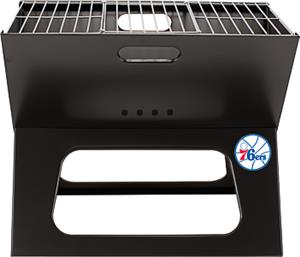 Picnic Time NBA 76ers Charcoal X-Grill with Tote