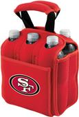 Picnic Time NFL San Francisco 49ers 6 Pack Holder