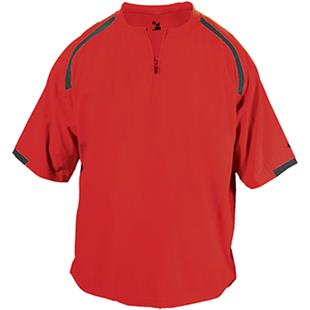 Badger Competitor Short Sleeve Pullover Windshirts
