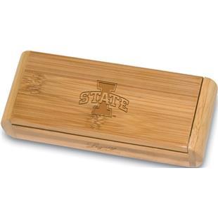 Picnic Time Iowa State Elan-Bamboo Corkscrew