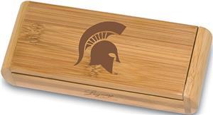 Picnic Time Michigan State Elan-Bamboo Corkscrew