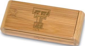 Picnic Time Texas Tech Elan-Bamboo Corkscrew