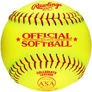 Rawlings 11&quot; Official ASA Fast Pitch Softballs