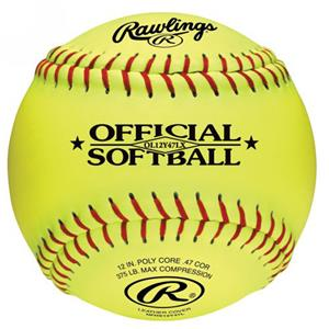 "Rawlings 12"" Leather Fast Pitch Practice Softballs"