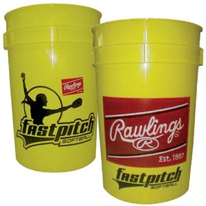 "Rawlings Bucket of 12"" Fast Pitch Softballs"