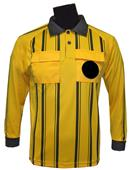 New Style Soccer Referee Jerseys Long Sleeve-GOLD