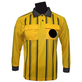 Soccer Referee Jerseys Long Sleeve-GOLD