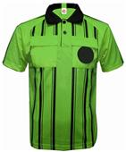 New Style Soccer Referee Jerseys Short Sleeve-LIME