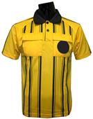 Soccer Referee Jerseys Short Sleeve-GOLD
