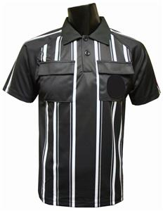 New Style Soccer Referee Jersey Short Sleeve-BLACK