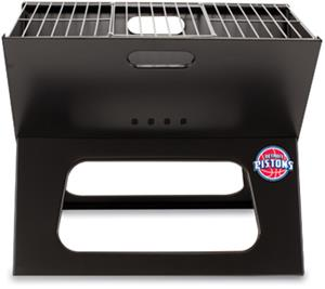Picnic Time NBA Pistons Charcoal X-Grill w/ Tote