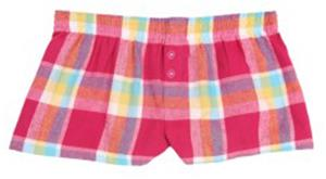 Boxercraft Womens Plaid Flannel Bitty Boxer Shorts