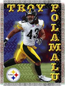 Northwest NFL Steelers Troy Polamahu Players Throw