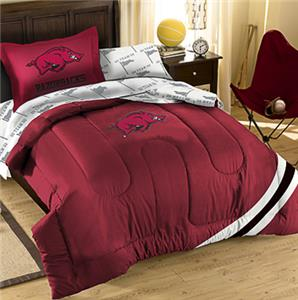 Northwest NCAA Arkansas Twin Bed in Bag Set