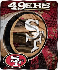 Northwest NFL San Francisco 49ers Grunge Throws