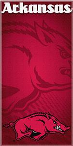 Northwest NCAA University of Arkansas Beach Towel
