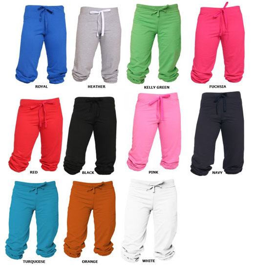 E6136 Boxercraft Fleece Touchdown Capri Pants (7 Colors)