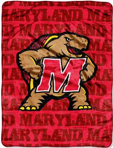 Northwest NCAA Maryland Grunge Raschel Throw