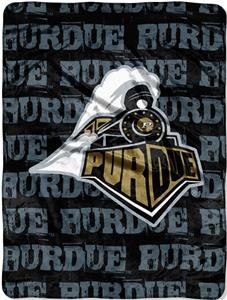 Northwest NCAA Purdue Univ. Grunge Raschel Throw