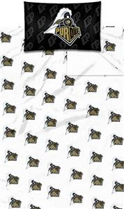 Northwest NCAA Purdue University Twin Sheet Set