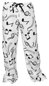 Boxercraft Adult Fashion Music Notes Flannel Pants