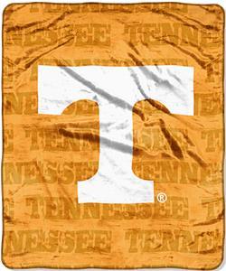 Northwest NCAA Tennessee Grunge Raschel Throw