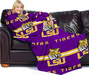 Northwest NCAA LSU Comfy Throw (Stripes)