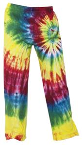 Boxercraft Womens Rainbow Swirl Tie Dye Pants