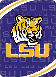 "Northwest NCAA LSU 62""x90"" Fleece Force Throw"