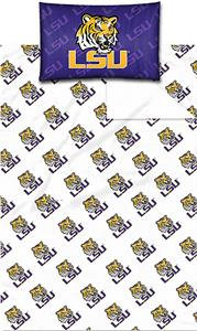 Northwest NCAA LSU Twin Sheet Set