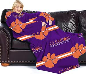Northwest NCAA Clemson Univ. Comfy Throw (Stripes)