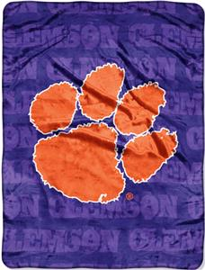 Northwest NCAA Clemson Grunge Raschel Throw