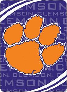 Northwest NCAA Clemson Univ. Fleece Force Throw